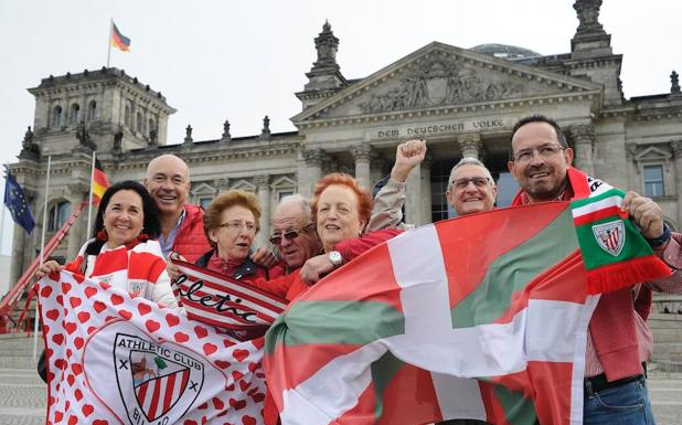Aficionados del Athletic en Berlín.