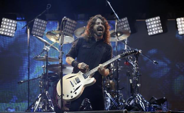 Dave Grohl, integrante del grupo estadounidense Foo Fighters.