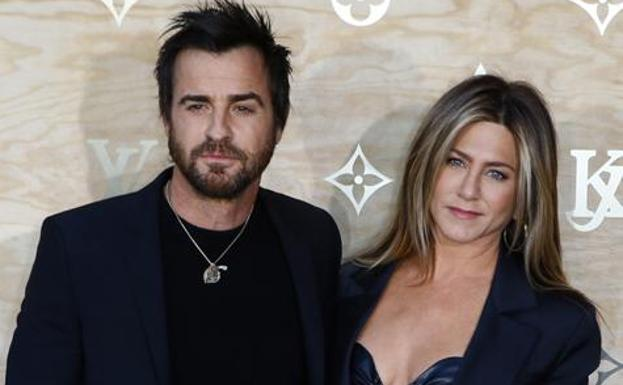 Jennifer Aniston, con su marido./