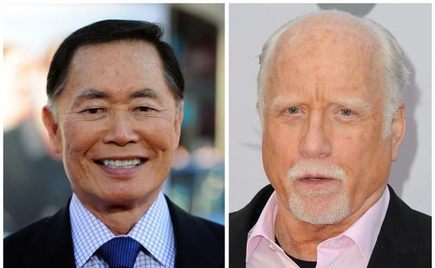 George Takei y Richard Dreyfuss./Afp