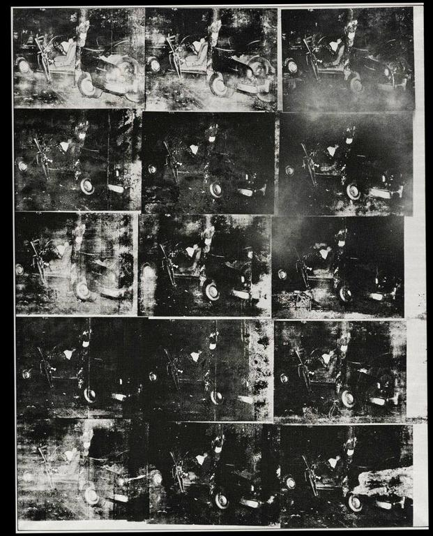 'Accidente de auto plateado (doble desastre)', de Warhol