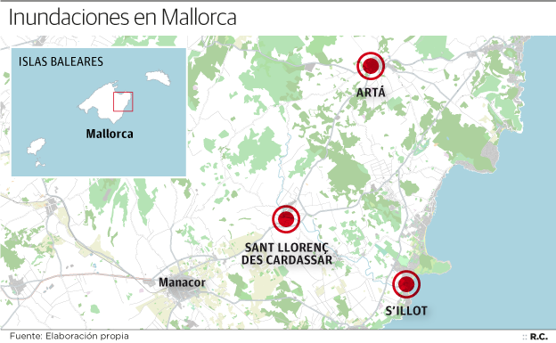 Lluvias dejan al menos nueve muertos en Mallorca, España