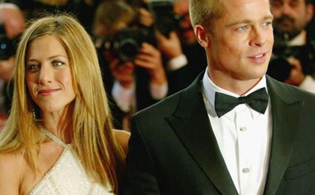Jennifer Aniston y Brad Pitt./
