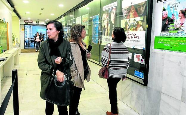Los cines Florida aplicarán una única rebaja, solo para los estrenos del fin de semana, de 50 céntimos. /EL CORREO