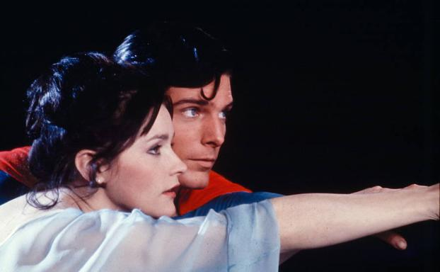 Margot Kidder y Christopher Reeve, en una escena de la película 'Superman'./E. C.