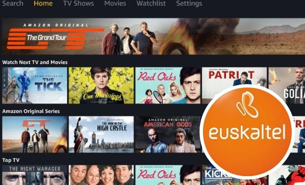 Contenidos de Amazon Prime Video disponibles en Euskaltel./