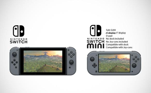 Concepto de Nintendo Switch Mini/