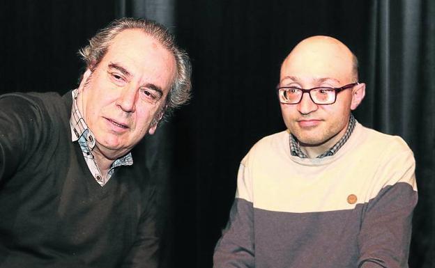 Vidal, ayer con Pepe Tabernero, su 'descubridor'.