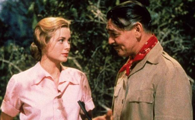 Grace Kelly y Clark Gable en 'Mogambo'./
