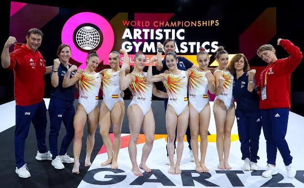 Resultado de imagen de equipo femenino gimnasia artistica españa 2019