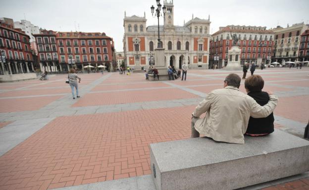 La Plaza Mayor de Valladolid.