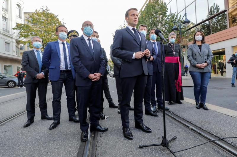 Macron, en Niza