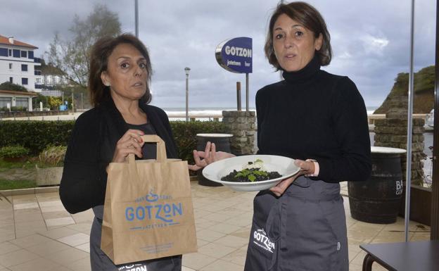 Gotzone y Sorkunde Longarai, del restaurante Gotzon (Bakio).