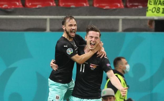Austria debuta con triunfo al vencer a Macedonia del Norte, es su primera victoria en la historia de la Eurocopa