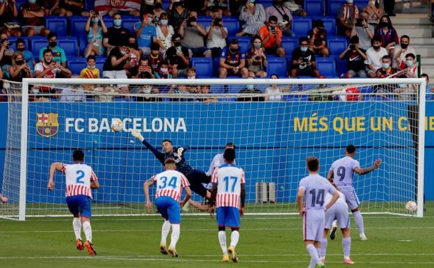 Depay se estrena con gol en la victoria del Barça ante el Girona