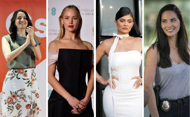 Inés Arrimadas, Jennifer Lawrence, Kylie Jenner and Olivia Munn.