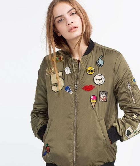 Zara Chamarra De Militar Moda T Verde wnxaS4qT
