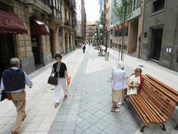 La calle Ledesma ya es completamente peatonal | El Correo